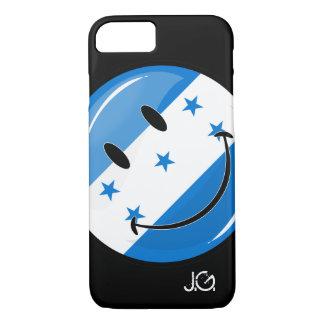 Glossy Round Smiling Honduran Flag iPhone 7 Case