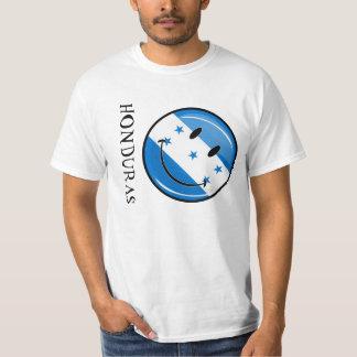Glossy Round Smiling Honduran Flag Tee Shirt