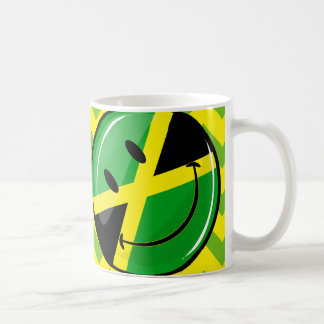 Glossy Round Smiling Jamaican Flag Coffee Mug