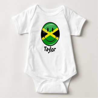 Glossy Round Smiling Jamaican Flag Shirts