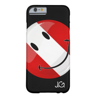 Glossy Round Smiling Peruvian Flag Barely There iPhone 6 Case