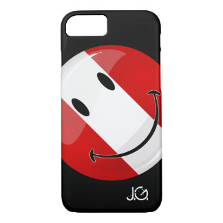 Glossy Round Smiling Peruvian Flag iPhone 8/7 Case