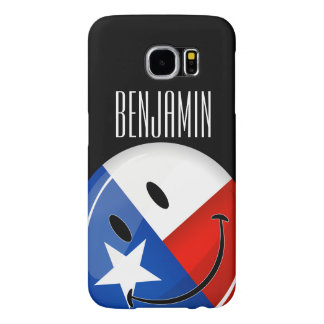 Glossy Round Smiling Proud Texas Flag Samsung Galaxy S6 Case