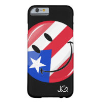 Glossy Round Smiling Puerto Rican Flag Barely There iPhone 6 Case