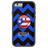 Glossy Round Smiling Puerto Rican Flag Tough Xtreme iPhone 6 Case