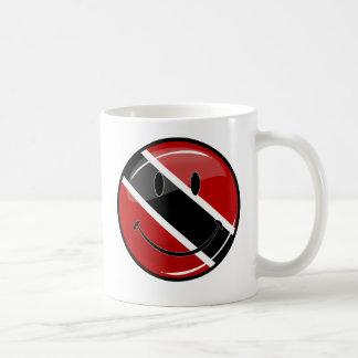 Glossy Round Smiling Trinidad and Tobago Flag Coffee Mug