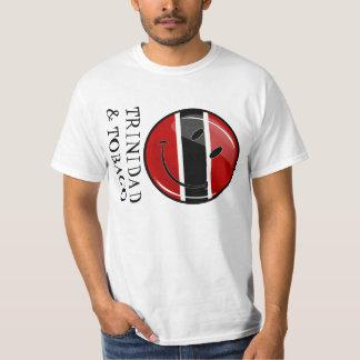 Glossy Round Smiling Trinidad and Tobago Flag T-Shirt