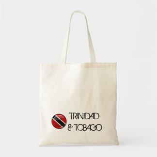 Glossy Round Smiling Trinidad and Tobago Flag Tote Bag