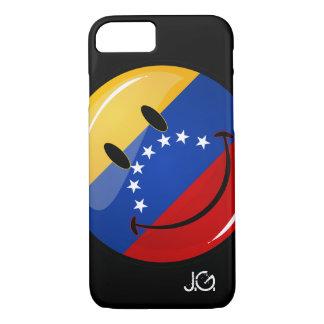 Glossy Round Smiling Venezuelan Flag iPhone 7 Case