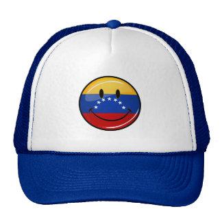 Glossy Round Smiling Venezuelan Flag Trucker Hat