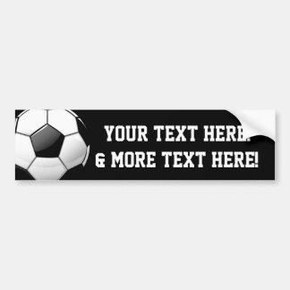 Glossy Round Soccer Ball Bumper Sticker