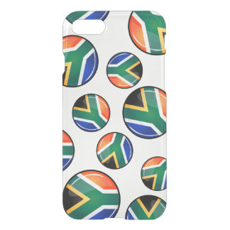 Glossy Round South African Flag iPhone 8/7 Case