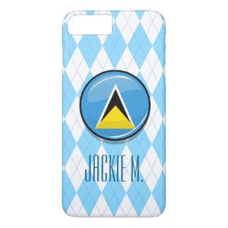 Glossy Round St. Lucia Flag iPhone 8 Plus/7 Plus Case