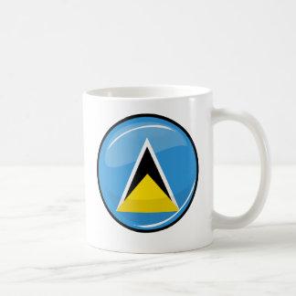 Glossy Round St. Lucia Flag Mug