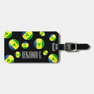 Glossy Round St. Vincent and Grenadines Flag Bag Tag