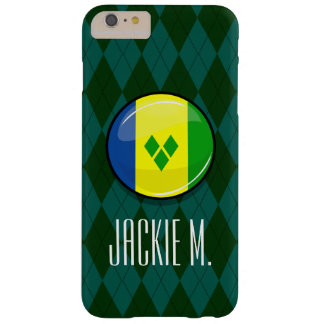 Glossy Round St. Vincent and Grenadines Flag Barely There iPhone 6 Plus Case