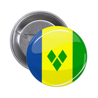 Glossy Round St. Vincent and Grenadines Flag Button