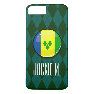 Glossy Round St. Vincent and Grenadines Flag iPhone 8 Plus/7 Plus Case