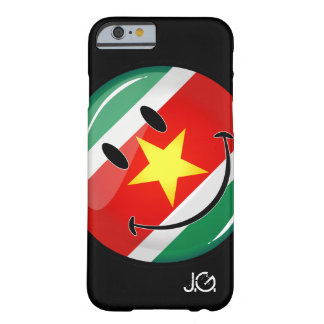 Glossy Round Suriname Flag Barely There iPhone 6 Case