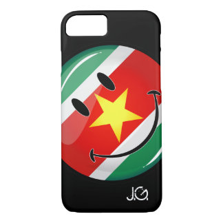 Glossy Round Suriname Flag iPhone 8/7 Case