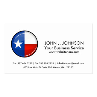 Glossy Round Texas Flag Double-Sided Standard Business Cards (Pack Of 100)