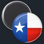 """Glossy Round Texas Flag Magnet<br><div class=""""desc"""">Show the world your homeland pride for Texas.</div>"""