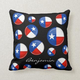 Glossy Round Texas Flag Pillows