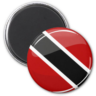 Glossy Round Trinidad and Tobago Flag 2 Inch Round Magnet