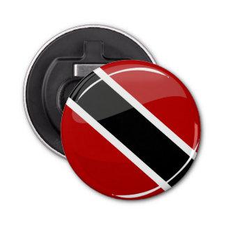 Glossy Round Trinidad and Tobago Flag Bottle Opener