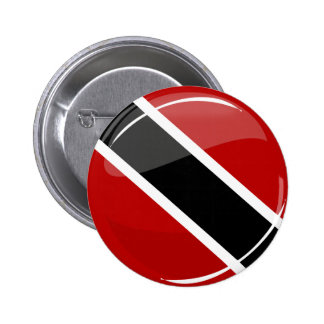 Glossy Round Trinidad and Tobago Flag Button