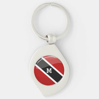 Glossy Round Trinidad and Tobago Flag Keychain