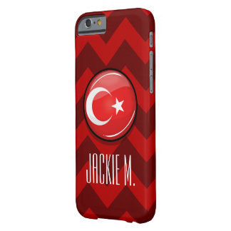 Glossy Round Turkish Flag Barely There iPhone 6 Case