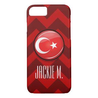 Glossy Round Turkish Flag iPhone 8/7 Case