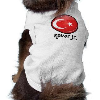 Glossy Round Turkish Flag Shirt