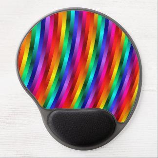 Glossy Shiny Rainbow Stripes  Gel Mousepad