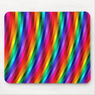 Glossy Shiny Rainbow Stripes Mousepad