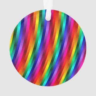 Glossy Shiny Rainbow Stripes Ornament