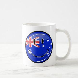Glossy Smiling Australian Flag Coffee Mug