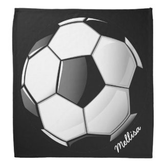 Glossy Soccer Ball Bandana