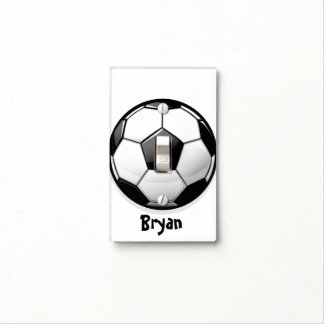 Glossy Soccer Ball Switch Plate Cover