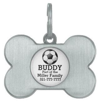 Glossy Soccer Ball Pet Tag