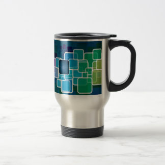 Glossy squares background mugs