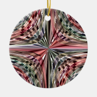 Glossy star design ceramic ornament