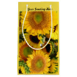 Glossy Sunflower Gift Bag Personalize Greeting