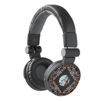 Glossy Tiger Print Replace Image Headphones