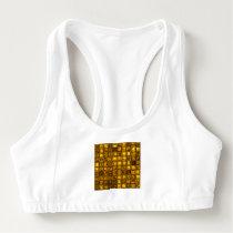 glossy tiles, golden (I) Sports Bra