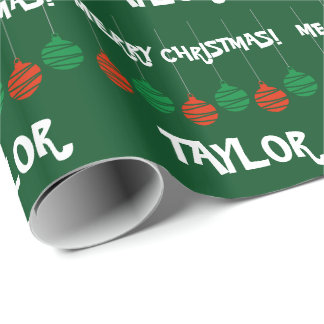 Glossy wrappingpaper with personalized name wrapping paper