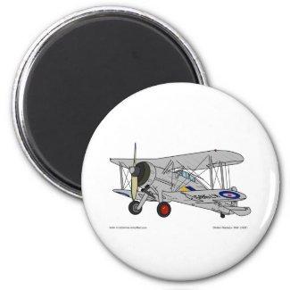 Gloster Gladiator (1937) 2 Inch Round Magnet