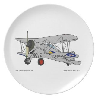 Gloster Gladiator (1937) Dinner Plates
