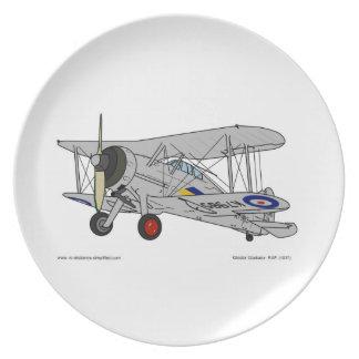Gloster Gladiator (1937) Melamine Plate